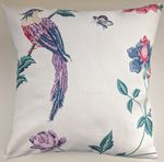 Shabby Chic Cushion Cover in Laura Ashley Elvedon Cranberry 16""